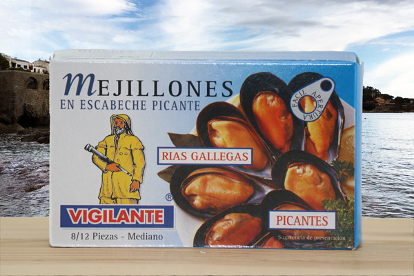 Mejillones picante - Pfahlmuscheln in pikanter Sauce