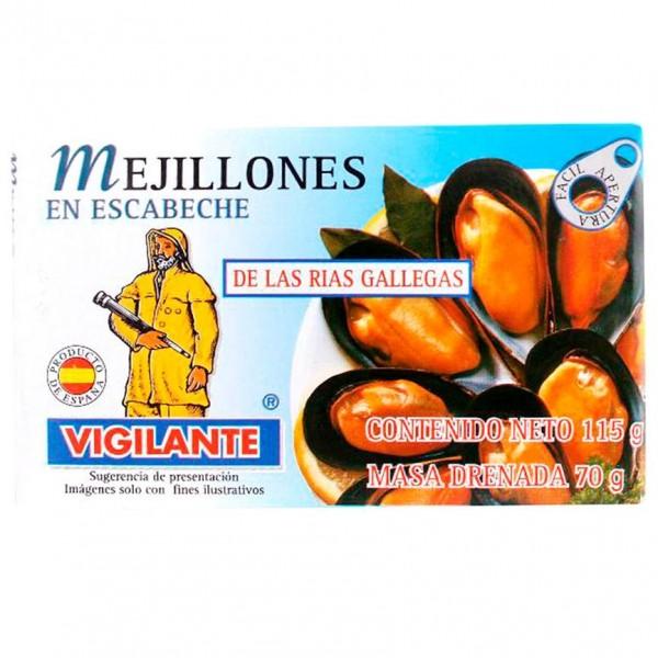 Mejillones Escabeche - Pfahlmuscheln in Marinadensauce