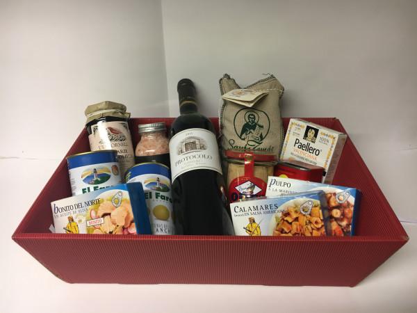 Präsentkorb - vino y mar