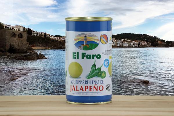 El Faro Oliven gefüllt mit Jalapeño