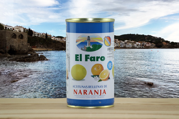 El Faro Oliven gefüllt mit Orange