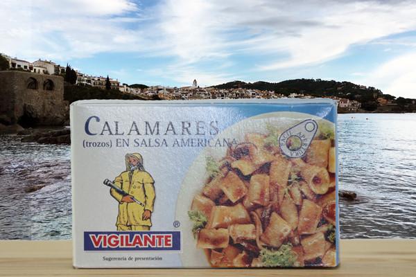 Calamares Trozos Americana - Tintenfisch in amerikanischer Sauce