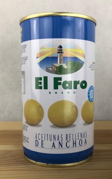 El Faro Oliven gefüllt mit Sardellen