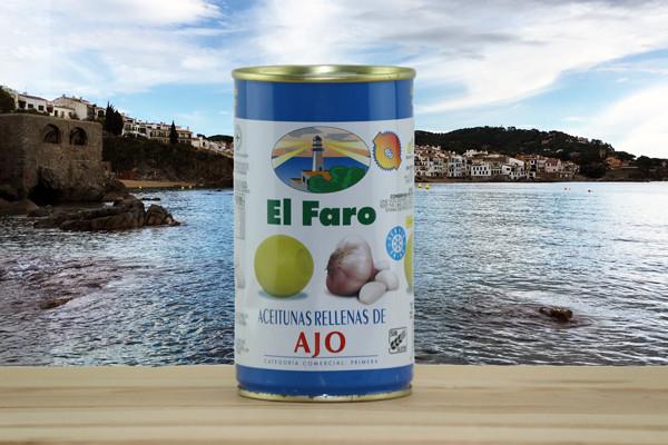 El Faro Oliven gefüllt mit Knoblauch