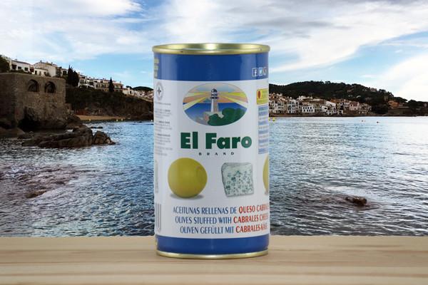 El Faro Oliven gefüllt mit Käsepaste