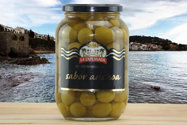 La Explanada - Grüne Oliven mit Stein - Glas 835g