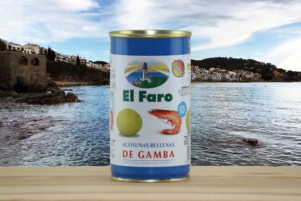 El Faro Oliven gefüllt mit Garnelen