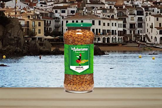 La Asturiana Lentejas Cocidas - Linsen gekocht